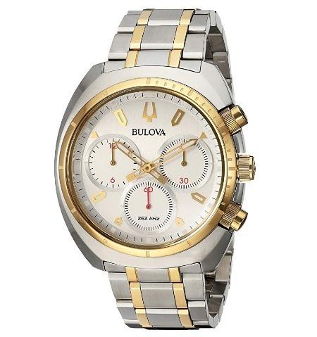 Relógio Bulova Masculino Curv Cronógrafo Dourado/prata Preci
