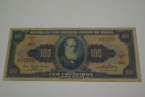 Cedula 100 Cruzeiros D. Pedro Ii Lote 3