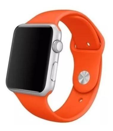 Pulseira Para Apple Watch 1 2 3 - 42 Mm M/l Sport Laranja