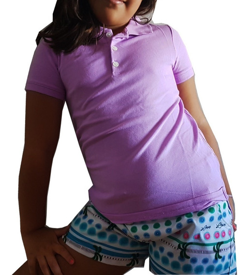 Blusa Feminina Infantil Polo Carter