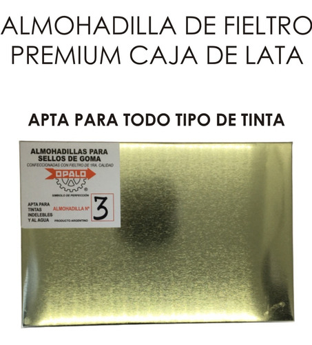 Almohadilla Opalo Para Sello De Fieltro 21x14 Cm Zona Norte