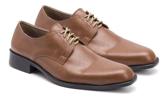 Zapatos Hombre Vestir Eco Cuero Liso Moda Simón De La Costa