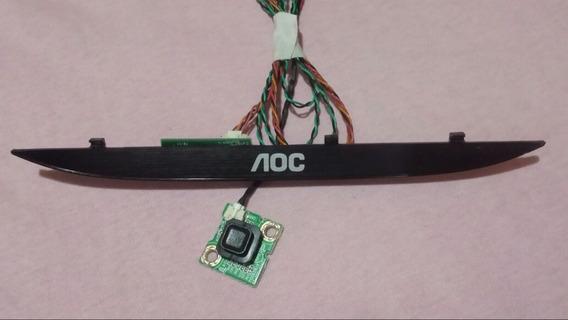 Sensor Receptor Controle Remoto Tecla Power Tv Aoc Le43f1461