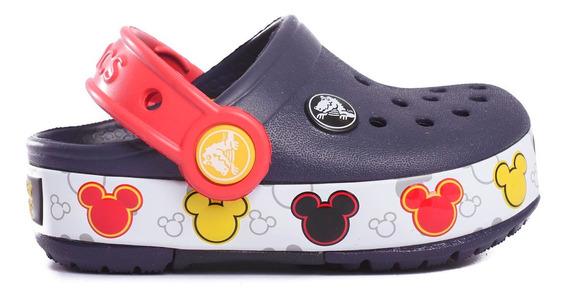 Zuecos Crocs Crocband Mickey Fun Lab Lights Kids -c204994-c4