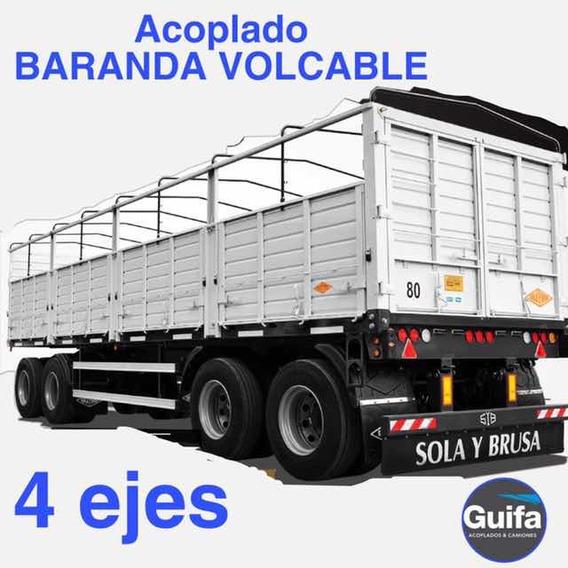 Acoplado Baranda Volcable 4 Ejes Sola Y Brusa