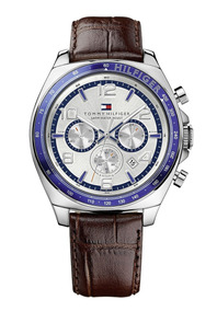 Relógio Luxo Tommy Hilfiger Th1790937 Orig Chron Anal Couro!