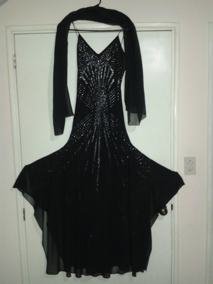 Vestido De Noche Para Damas Color Negro Con Shall