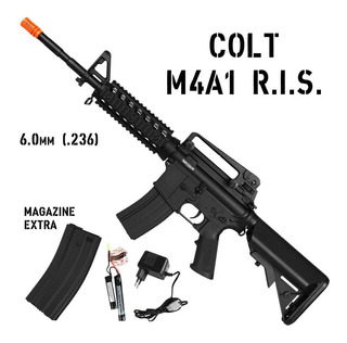 Airsoft Elétrica Rifle Bivolt Cybergun Colt M4a1 Ris 453 Fps