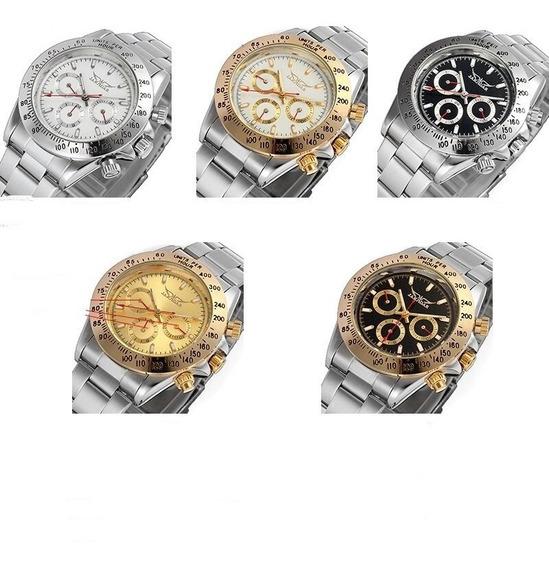 Relógio De Luxo Automatico Original Dos Homens + Brinde