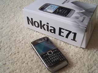 Celular Nokia E71 Novíssimo Com Todos Os Acessórios.