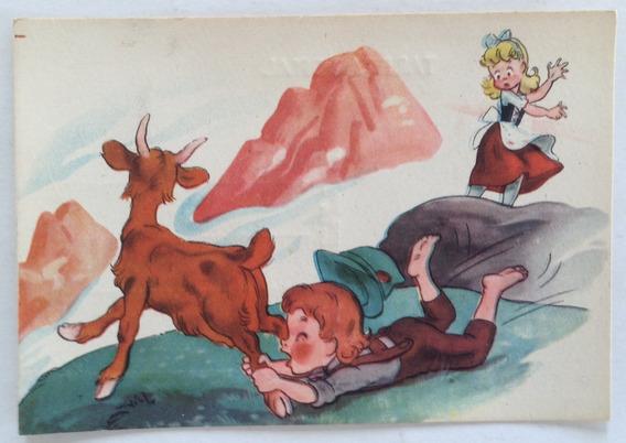 Antigua Tarjeta Postal Infantil N° 6 Codex Año 1952