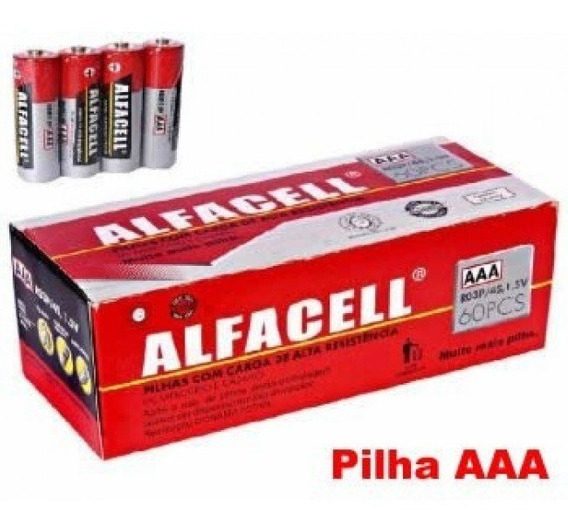 Pilha Aaa - Alfacell Cx. 60 Unids Palito