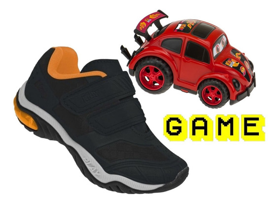 Tênis Infantil Kidy Play Respi-tec +carrinho + Game