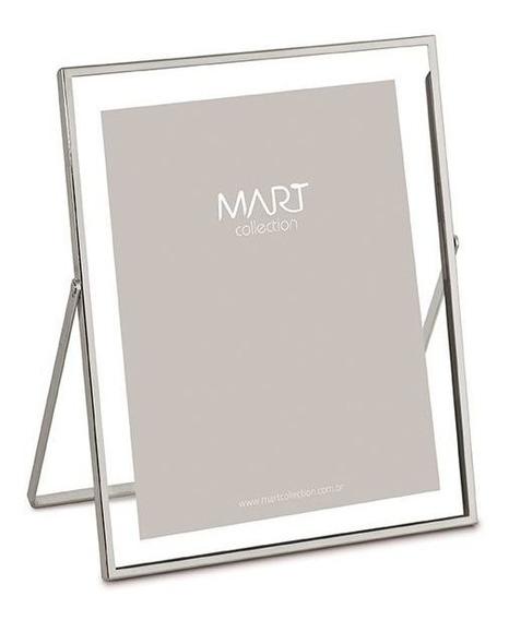 Porta Retrato Prata Em Metal 15x20 Cm Mart