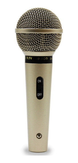 Microfone Profissional Com Fio Cardióide Sm58 P4 Leson