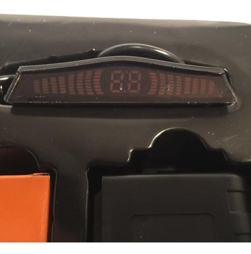 Sensor Parking.x4 Marcha Atras Mini Display Sonido Alerta A4
