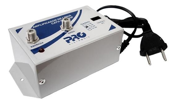 Amplificador De Sinal Tv Digital Proeletronic 30db Pqal3000