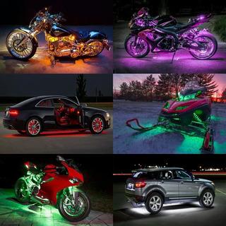 Barras Led Auto Estrobo Luces Motocicleta Luz Foco Rgb Neon