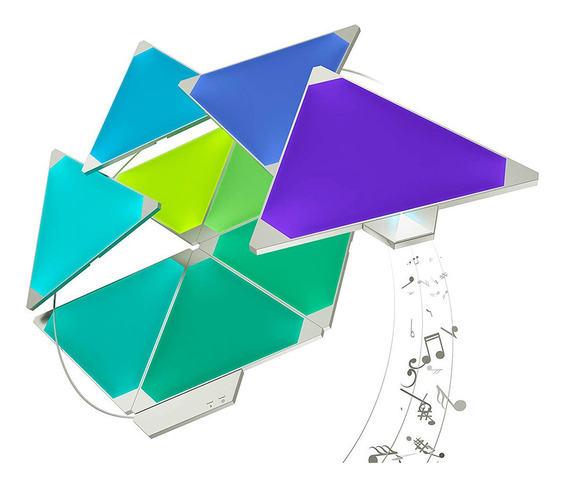 Kit 1 Nanoleaf Aurora Smarter Rhythm + 2 Kit Expansion