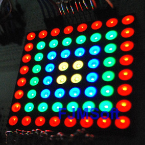 Matriz De Led Rgb 8x8 5mm 60x60mm Full Color Pic Avr Arduino