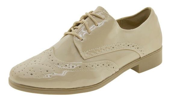 Sapato Feminino Oxford Areia Facinelli - 51804