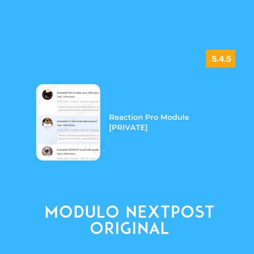 Reactions Pro Module For Nextpost Modulo Original C/ Licença