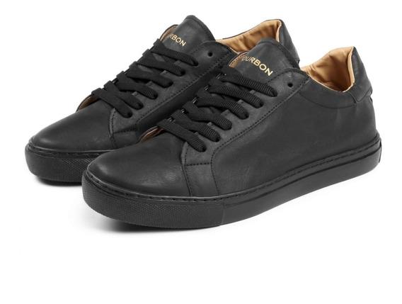 Zapatillas Bourbon Hamilton Cuero Negras 42