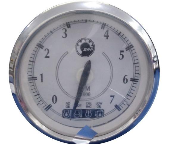 Relógio Tacômetro Evinrude/johnson Branco Aro Cromado 776579