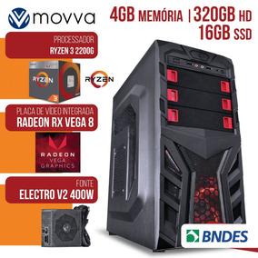 Pc Gamer Amd Ryzen 3 2200g 3.5ghz/4gb Hd 320gb/ Fonte 400w