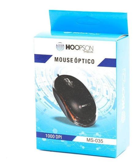 Kit 20 Mouse Óptico Usb Atacado 1000 Dbi Hoopson Ms035