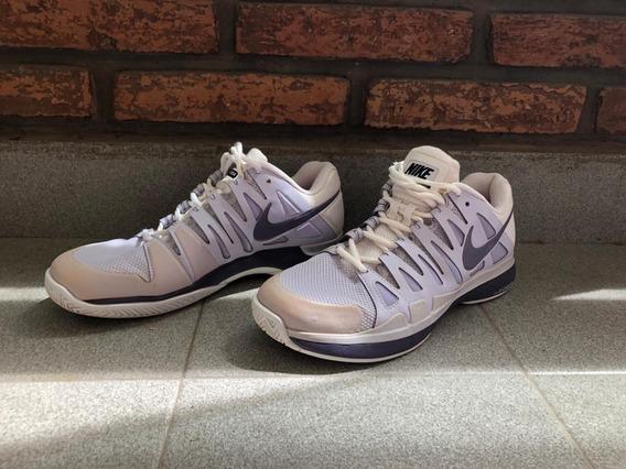| Zapatillas Tenis | Mujer | Nike | Usadas |violeta Y Blanco