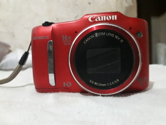 Câmera Canon Zoom Lens 16xis Sx160/vermelha