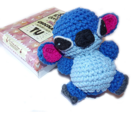 Imagen 1 de 7 de Dia Del Niño: Muñeco Tejido (amirigumi) Stitch + Bombon + Ch
