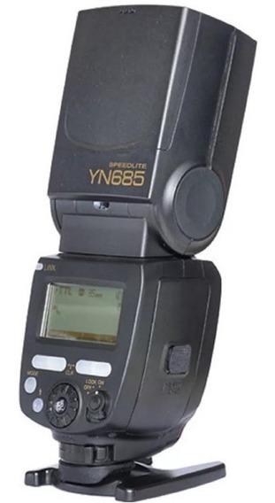 Flash Yongnuo Yn-685 Ttl Speedlite Nikon Caixa E Acessórios