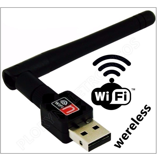 Adaptador Antena Receptora Wereless Internet Wifi Atac. 7 Pç