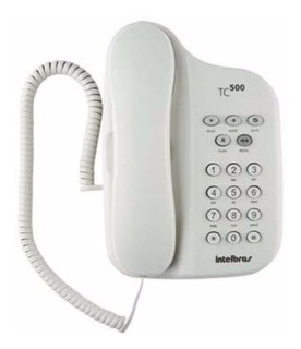 Telefono Fijo Intelbras Tc500 Alambrico Flash Pause Mute