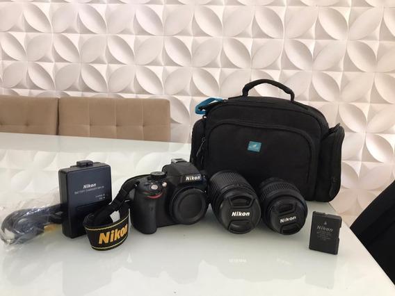 Nikon D5100 Profissional + 2 Lentes + Carregador + Bolsa