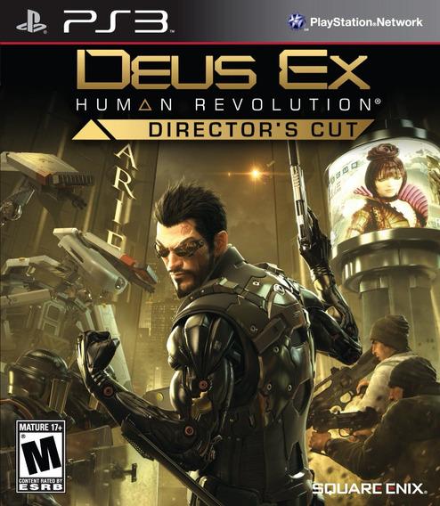 Jogo Deus Ex Human Revolution Director Cut Ps3 Mídia Física