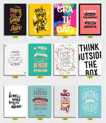 Placas Decorativas - Frases/pensamentos - Promoção - 20x30