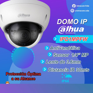 Cámara Seguridad Domo Ip Por Dahua Mod Ipd1mpfw 720p