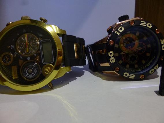 Lote Com 2 Relógios Para Retirada De Peças Ou Restauração