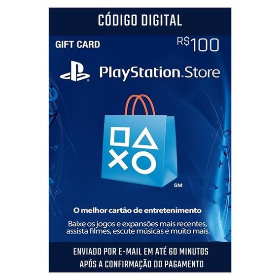 Cartão Sony Psn Store R$ 100