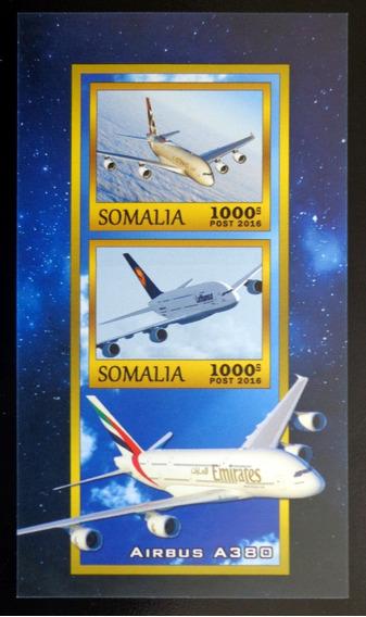 Somalía Aviones, Bloque 2 Sellos 2016 Mint L9900