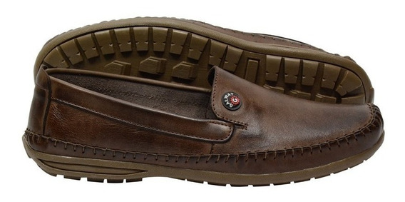 Sapato Masculino Mocassim Dockside Couro Galway 760-5 Promo.
