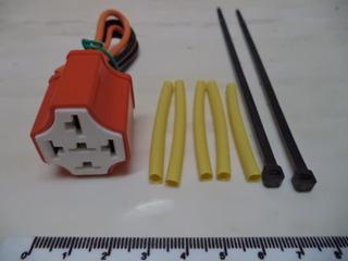 Conector Relay 5 Patas + Termocontraible + Tirraje (2,30d.)