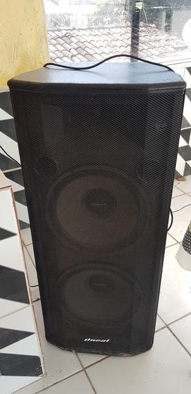 Caixa Ativo Oneal 6060+mesa Yamaha 16canais Mas Pedestais
