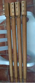 Patas De Mesa De Cedro Tornedas Kit X 4 Piezas Largo 79 Cm