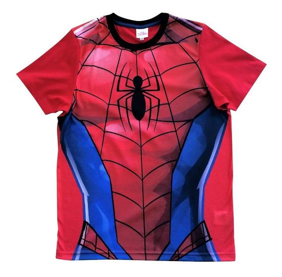 Playera Armadura Spider Man Hombre Sport De Marvel Oficial