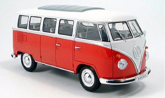 Welly Combi Volkswagen 1962 Cassical Bus 1:24 Die Cast