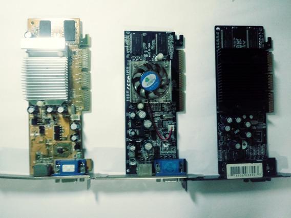 Kit 5 Placas De Vídeo Sendo 3 Agp + 2 Pci, Usadas E Antigas